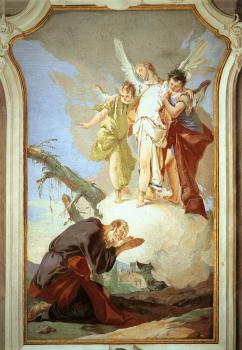 Giovanni Battista Tiepolo : Patriarcale The Three Angels Appearing to Abraham