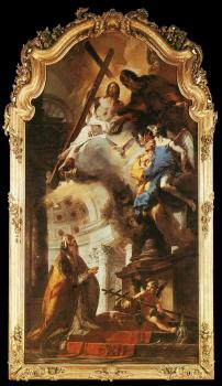 Giovanni Battista Tiepolo : Pope St Clement Adoring the Trinity