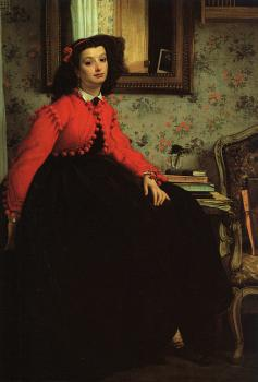 Portrait of Mademoiselle L.L.  Young Woman in a Red Jacket
