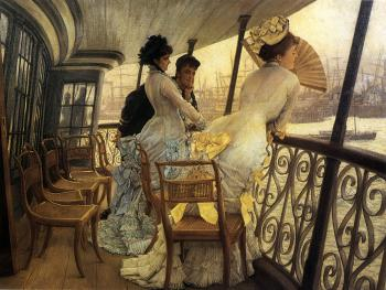 James Tissot : The Gallery of HMS Calcutta