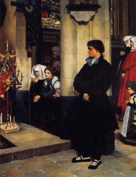 During the Service, Martin Luther's Doubts