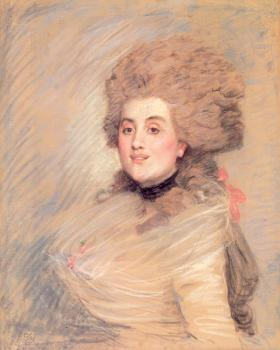 James Tissot : Portrait of an Actress in 18thC Dress