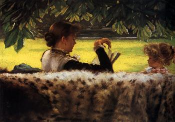 James Tissot : Reading a Story