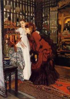 James Tissot : Young Women Looking at Japanese Objects II