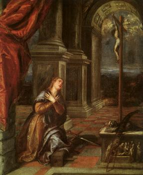 Titian : St. Catherine of Alexandria at Prayer