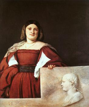 Titian : Portrait of a Woman called,La Schiavona