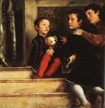 Titian : Votive Portrait of the Vendramin Family