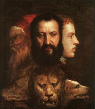 Titian : Allegory of Time Governed by Prudence