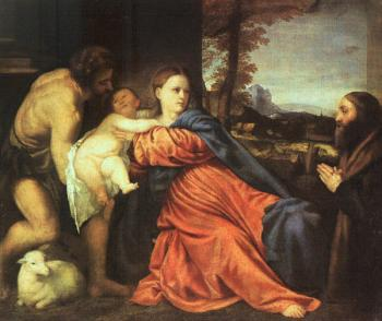 Titian : Holy Family and Donor