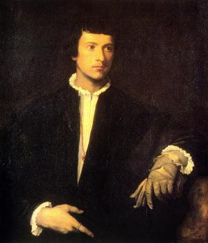 Titian : Man with Gloves