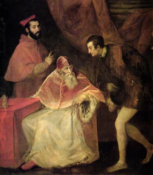 Titian : Pope Paul III and nephews