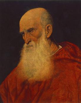 Titian : Portrait of an Old Man, Pietro Cardinal Bembo