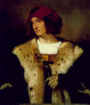 Titian : Portrait of a Man in a Red Cap