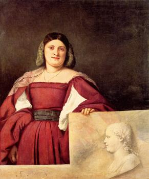 Titian : Portrait of a Woman called La Schiavona