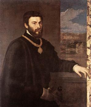 Titian : Portrait of Count Antonio Porcia