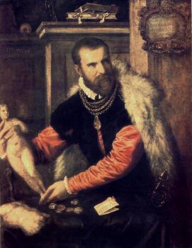 Titian : Portrait of Jacopo Strada