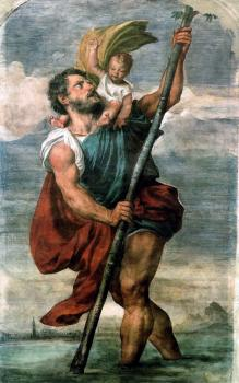 Titian : Saint Christopher