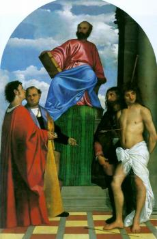 Titian : Saint Mark Enthroned