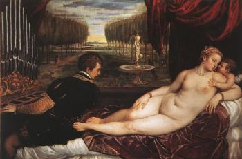 Titian : Venus with Organist and Cupid