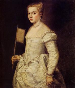 Titian : Woman in white