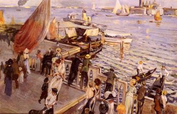 Ettore Tito : The Grand Canal, Venice
