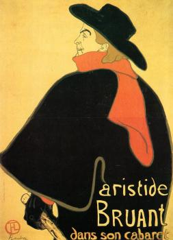 Henri De Toulouse-Lautrec : Aristede Bruand at His Cabaret