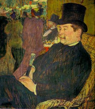 Henri De Toulouse-Lautrec : Portrait of Monsieur Delaporte at the Jardin de Paris