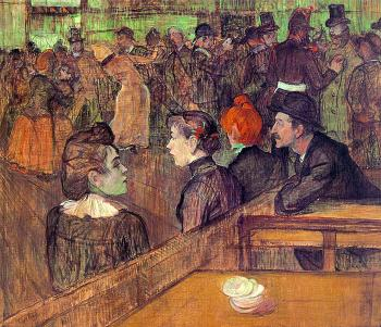 Henri De Toulouse-Lautrec : At the Moulin de la Galette
