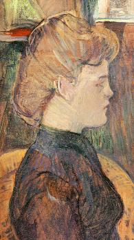 Henri De Toulouse-Lautrec : The Painter's Model Helene Vary in the Studio