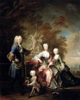 Robert Tournieres : Count Ferdinand Adolf von Plettenberg and his Family