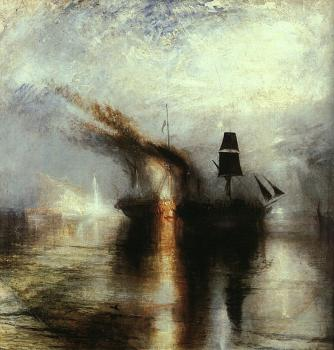 Joseph Mallord William Turner : Peace,Burial at Sea