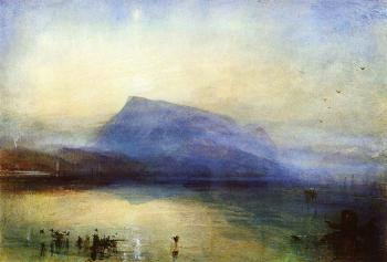 Joseph Mallord William Turner : The Blue Rigi,Lake of Lucerne,Sunrise