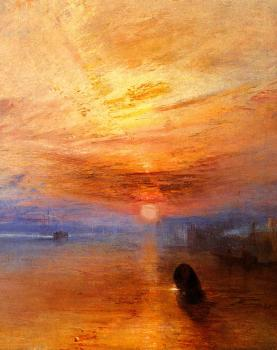 Joseph Mallord William Turner : The Fighting' Temeraire, tugged to her last Berth to be broken up