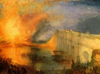 Joseph Mallord William Turner : The Burning of the Houses of Parliament