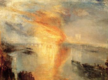 Joseph Mallord William Turner : The Burning of the Houses of Parliament II