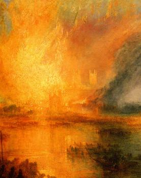 Joseph Mallord William Turner : The Burning of the Houses of Parliament III