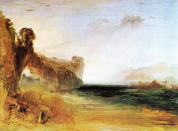 Joseph Mallord William Turner : Rocky Bay with Figures