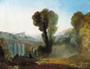 Joseph Mallord William Turner : Ariccia,Sunset