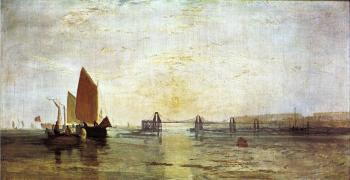 Joseph Mallord William Turner : The Chain Pier, Brighton