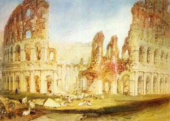 Joseph Mallord William Turner : Rome,The Colosseum