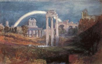 Joseph Mallord William Turner : Rome,The Forum with a Rainbow