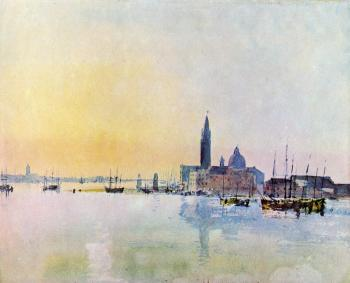 Joseph Mallord William Turner : Venice, San Guirgio from the Dogana,Sunrise