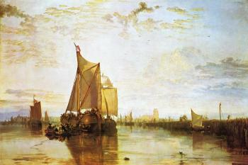 Joseph Mallord William Turner : Dort, the Dort Packet-Boat from Rotterdam Bacalmed