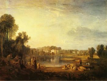 Joseph Mallord William Turner : Pope's Villa, at Twickenham