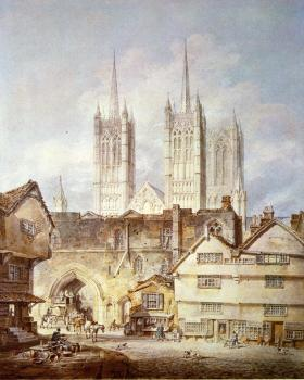 Turner, Joseph Mallord William - Cathedral Church at Lincoln