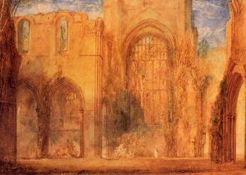 Turner, Joseph Mallord William - Interior of Fountains Abbey, Yorkshire