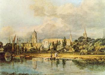 South View of Christ Church, etc., from the Meadows
