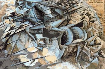 Umberto Boccioni : The Charge of the Lancers