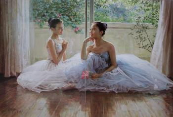 Handmade canvas painting reproduction