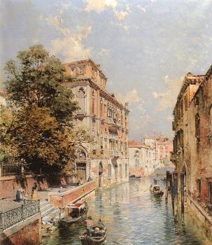Franz Richard Unterberger : A View in Venice